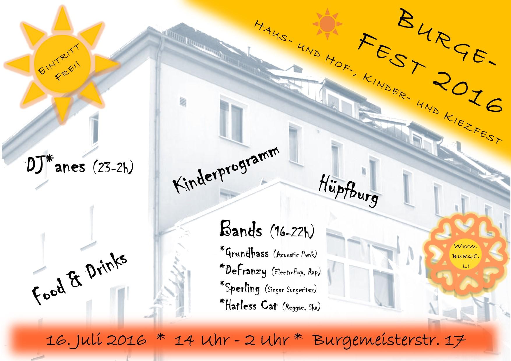 Flyer Burgefest 2016